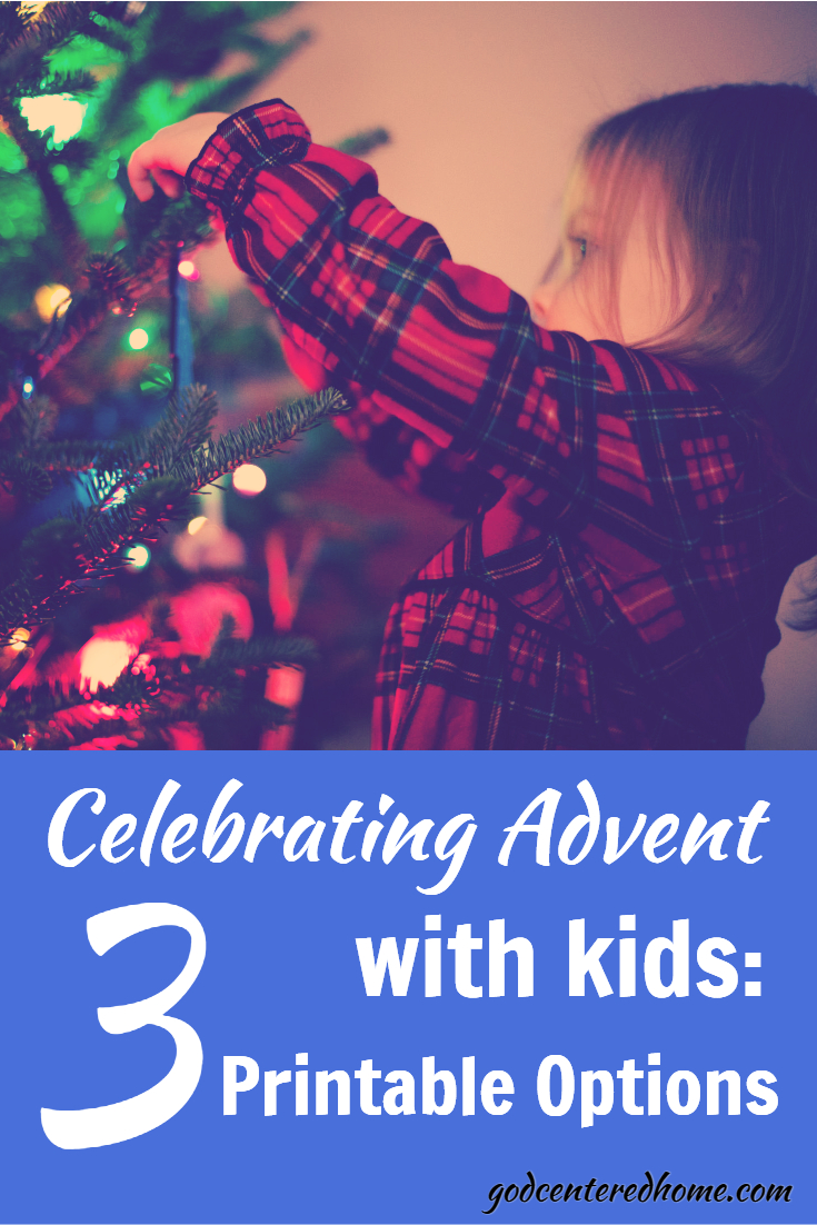 celebrating advent with kids printable options